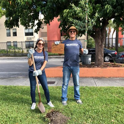 Couple Planting Trees